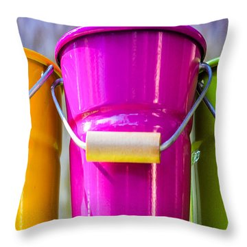 Throw Pillow featuring the photograph Pots Trio by Dany Lison