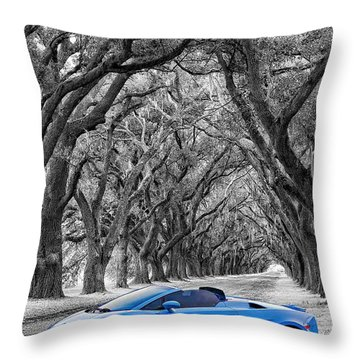 Color Your World - Lamborghini Gallardo Throw Pillow