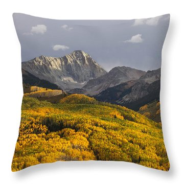 Colorado 14er Capitol Peak Throw Pillow