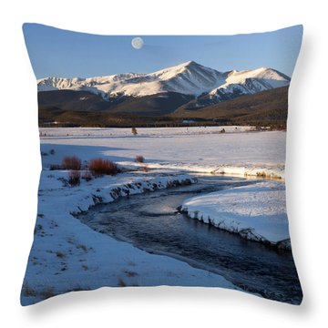 Colorado 14er Mt. Elbert Throw Pillow
