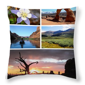 Colorado Utah Calendar 2018 Throw Pillow