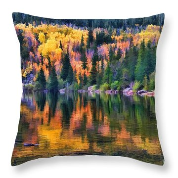 Colorado Autumn Throw Pillow by Jon Burch Photography