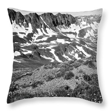 Colorado Black And White Throw Pillow by Aaron Spong