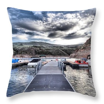 Colorado Boating Throw Pillow by Dan Sproul