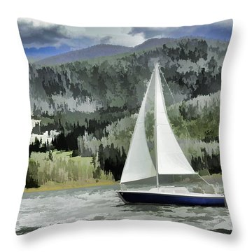 Colorado By Wind Throw Pillow