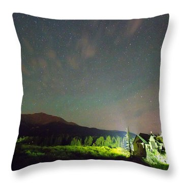 Colorado Chapel On The Rock Dreamy Night Sky Throw Pillow by James BO  Insogna
