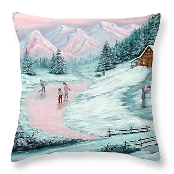 Colorado Christmas Throw Pillow