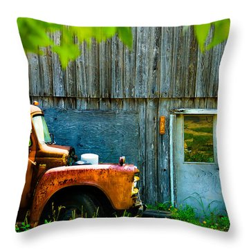 Throw Pillow featuring the digital art Colorado County No 57 by Bartz Johnson