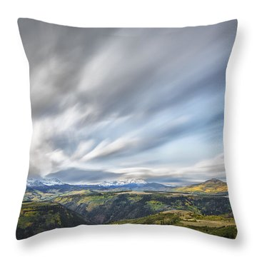 Colorado Garden Throw Pillow