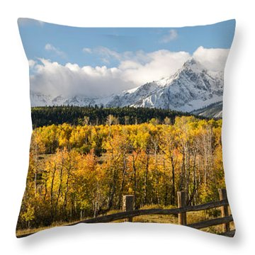 Colorado Gold Panorama Throw Pillow