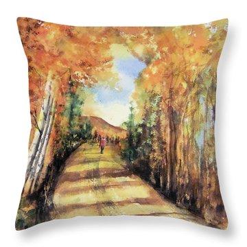 Colorado In September Throw Pillow