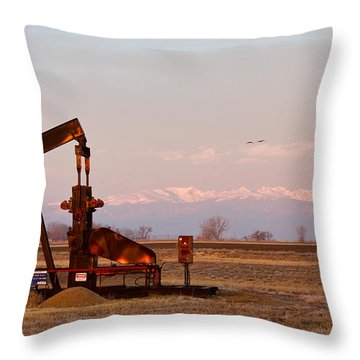 Colorado Oil Well Panorama Throw Pillow by James BO  Insogna