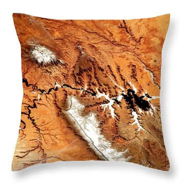 Throw Pillow featuring the photograph Colorado Plateau Nasa by Rose Santuci-Sofranko