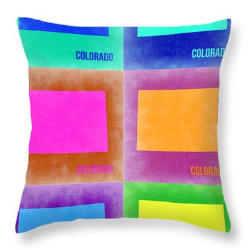 Colorado Pop Art Map 3 Throw Pillow