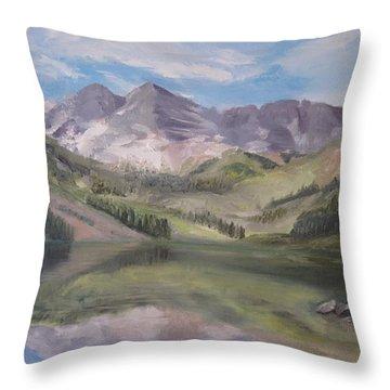Colorado Reflections Throw Pillow