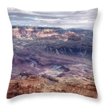 Colorado River At Grand Canyon Throw Pillow