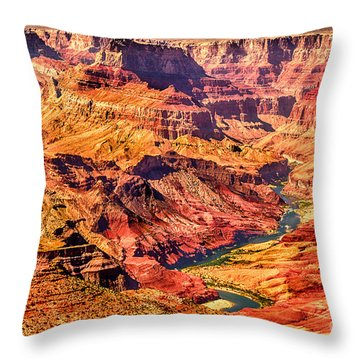 Colorado River 1 Mi Below 100 Miles To Vermillion Cliffs Utah Throw Pillow