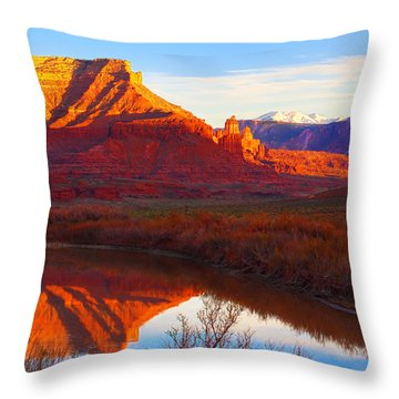 Colorado River Reflections Throw Pillow