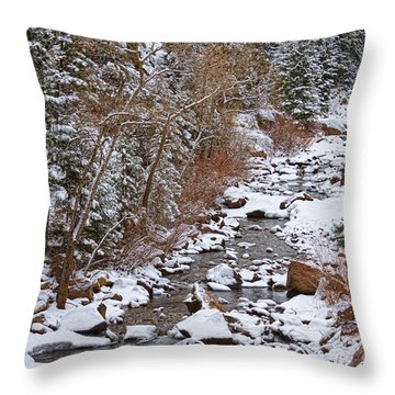 Colorado St Vrian Winter Scenic Landscape View Throw Pillow by James BO  Insogna