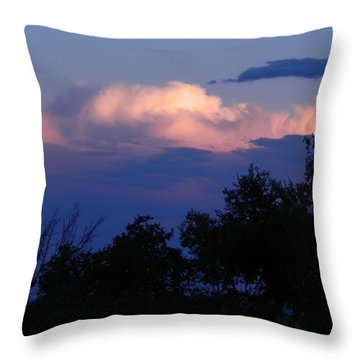 Colorado Storm Clouds Throw Pillow