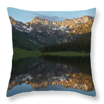 Colorado Sunset - Piney Lake Throw Pillow