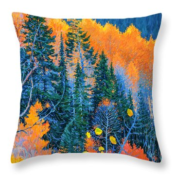Colorado Trees At Fall Throw Pillow