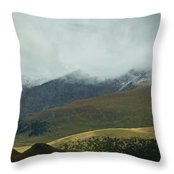 Colorado's Front Range Panorama Throw Pillow by Benjamin Reed