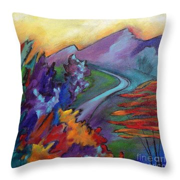 Colordance Throw Pillow by Elizabeth Fontaine-Barr