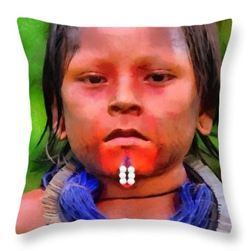 Colored Child Throw Pillow