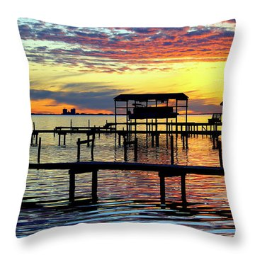 Throw Pillow featuring the photograph Colored Glass by Faith Williams