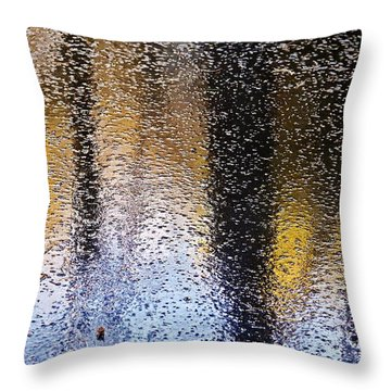 Colored Ice Throw Pillow