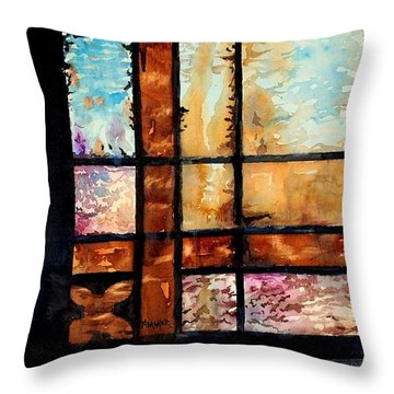 Colored Impressions Throw Pillow by Spencer Meagher