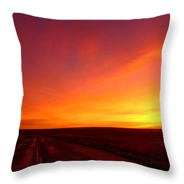 Throw Pillow featuring the photograph Colored Morning by Lynn Hopwood