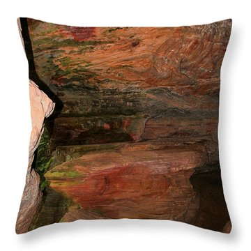 Colored Rock Layers Throw Pillow