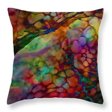 Colored Tafoni Throw Pillow by Klara Acel