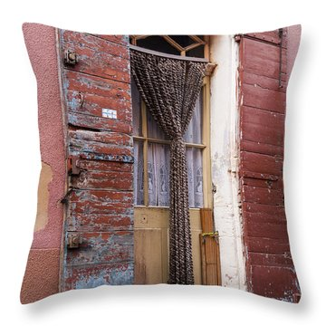 Colored Textures Throw Pillow by Bob Phillips