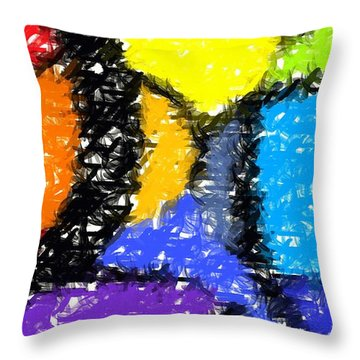 Colorful Abstract 3 Throw Pillow by Chris Butler