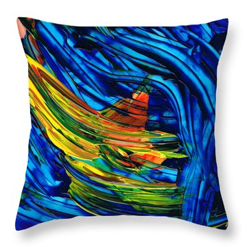 Colorful Abstract Art - Energy Flow 3 - By Sharon Cummings Throw Pillow by Sharon Cummings