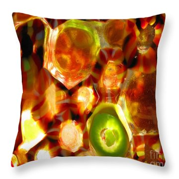 Colorful Abstract Throw Pillow