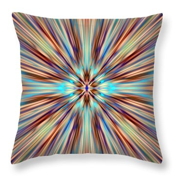 Colorful Abstract Throw Pillow by Cassie Peters