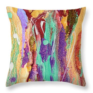 Colorful Abstract Falls Throw Pillow