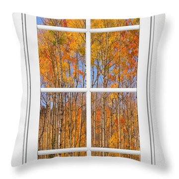 Colorful Aspen Tree View White Window Throw Pillow by James BO  Insogna