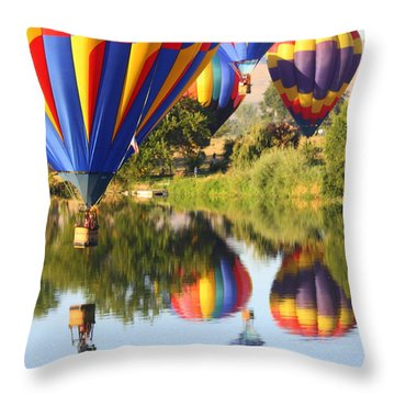 Colorful Balloons Fill The Frame Throw Pillow by Carol Groenen