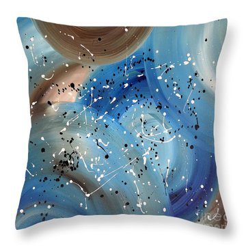 Colorful Blue Abstract Painting 3 By Saribelle Throw Pillow by Saribelle Rodriguez