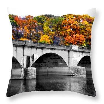 Colorful Bridge Throw Pillow