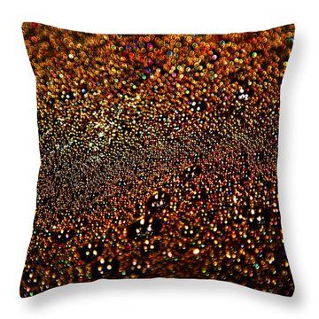 Colorful Bubbles On The Surface Of Filtering Coffee Throw Pillow
