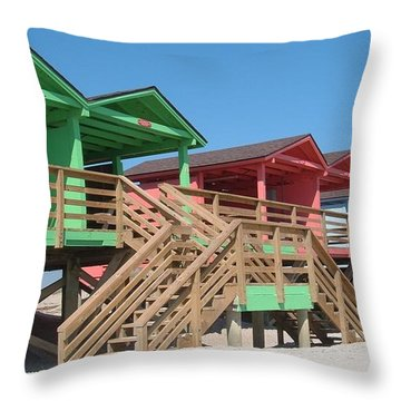 Colorful Cabanas Throw Pillow