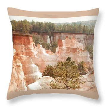 Throw Pillow featuring the photograph Colorful Georgia Canyon Wonder by Belinda Lee