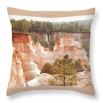 Colorful Georgia Canyon Wonder Throw Pillow by Belinda Lee