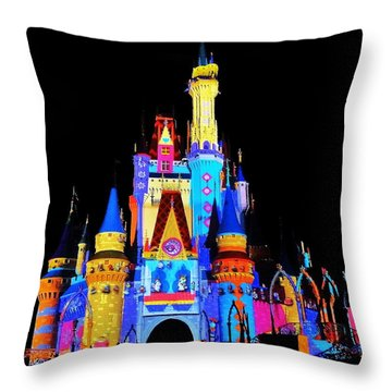 Colorful Castle Throw Pillow by Benjamin Yeager